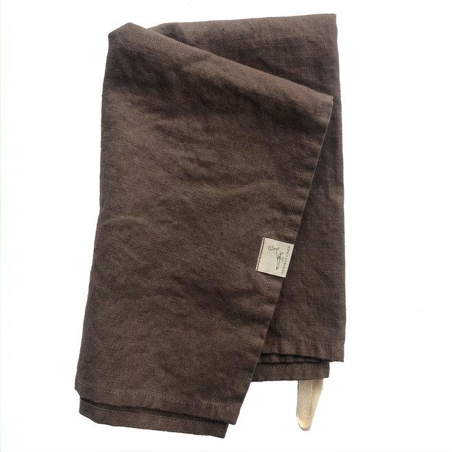 Linen Tea Towel Chocolat