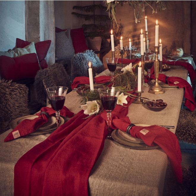 Linen Table cloth Cabernet 145 x 300 cm