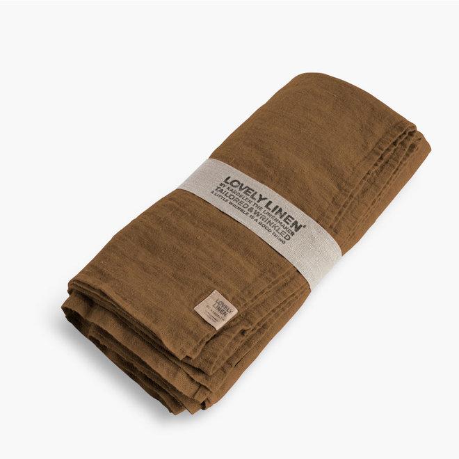 Linen Table cloth Almond 145 x 300 cm
