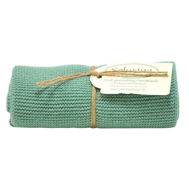 Knitted towel Rustic green (H112)