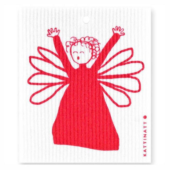 Dishcloth Red Angel