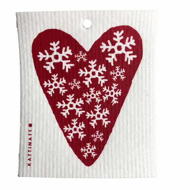Dishcloth Red Heart Snowflakes