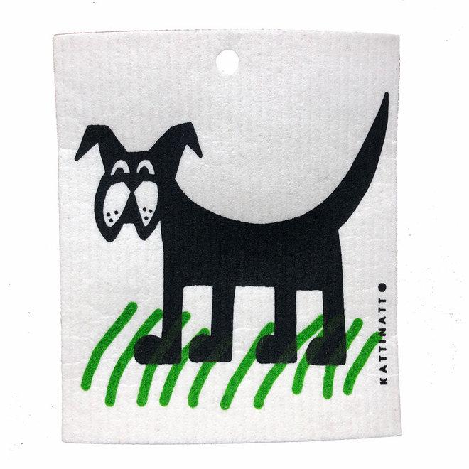 Dishcloth Dog in grass