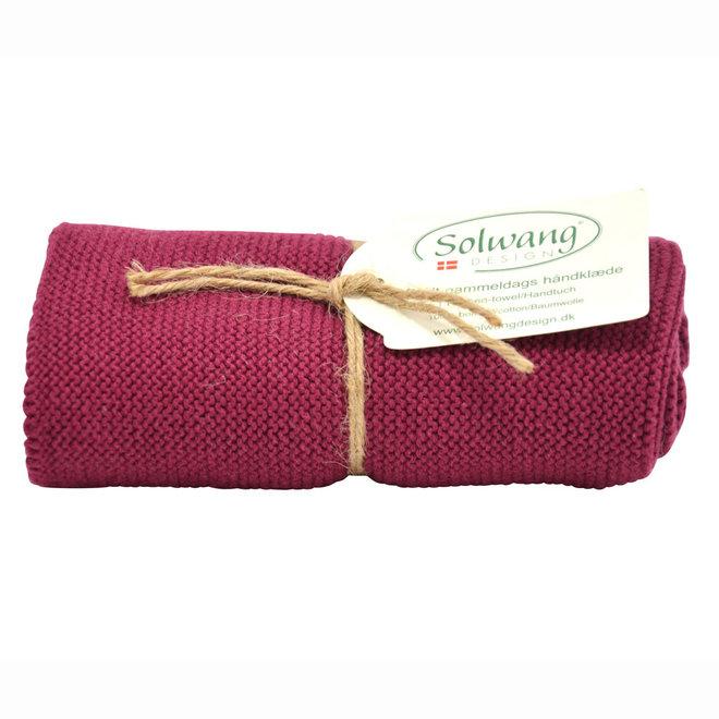 Knitted towel Dark Bordeaux (H79)