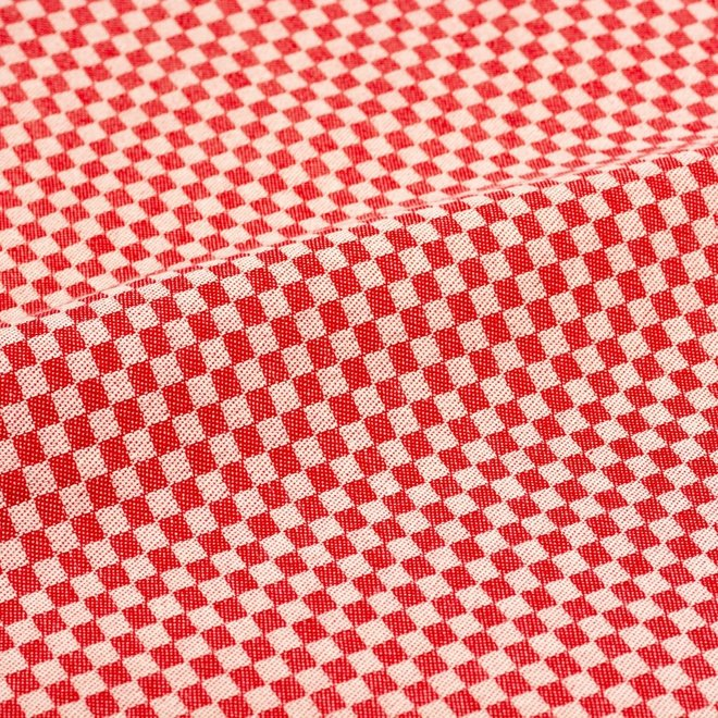 Tea towel litte checkered red