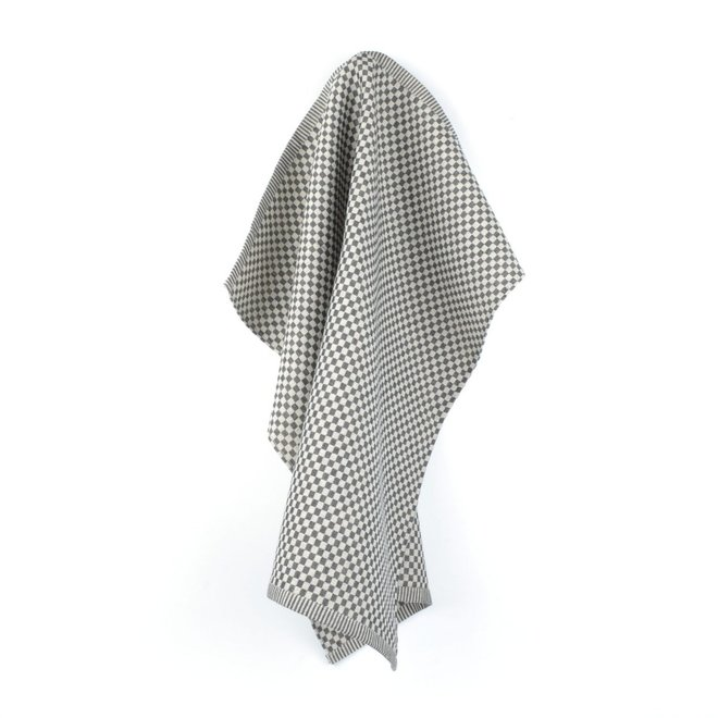 Tea towel litte checkered black