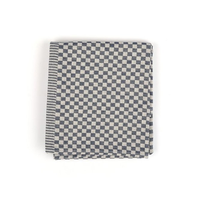Tea towel litte checkered dark blue