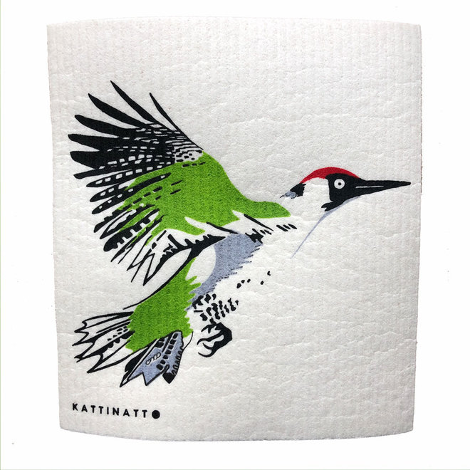 Dishcloth Green Woodpecker