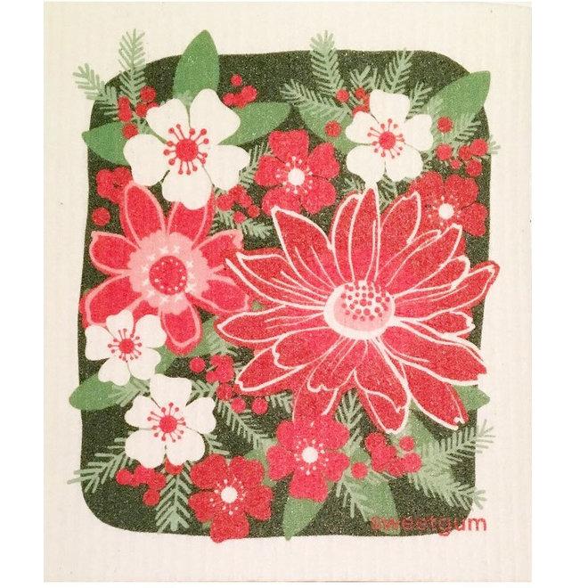 Dishcloth Christmas flowers