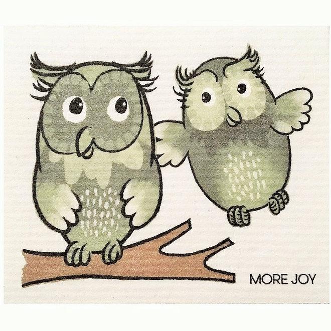 Dishcloth Happy Owls
