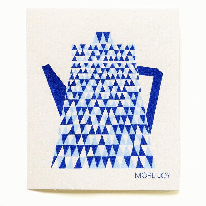 Dishcloth Teapot Blue