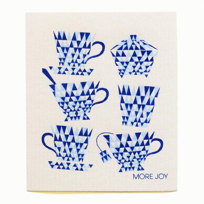 Dishcloth Teacups Blue