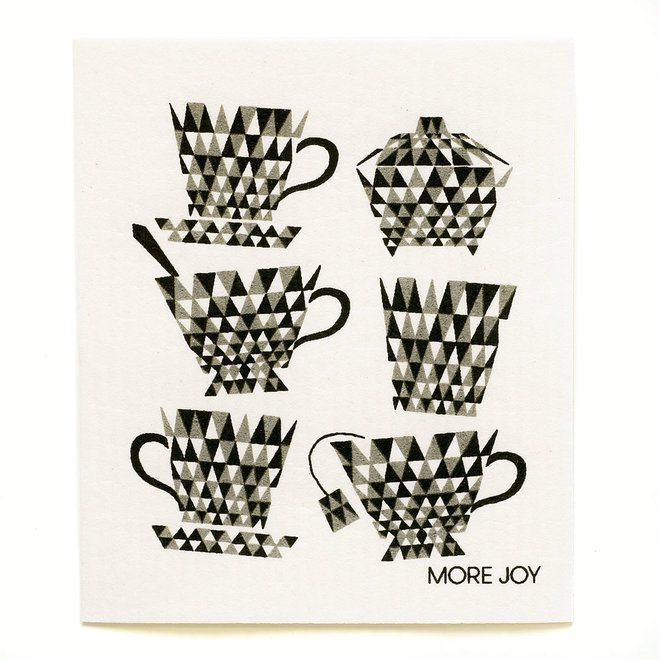 Dishcloth Teacups Black