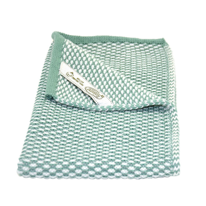 Knitted towel light rustic green