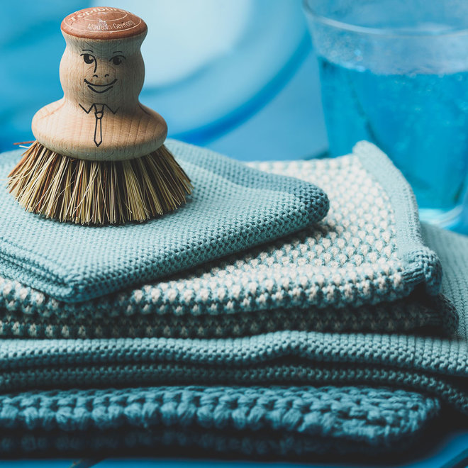 Knitted towel Petrol