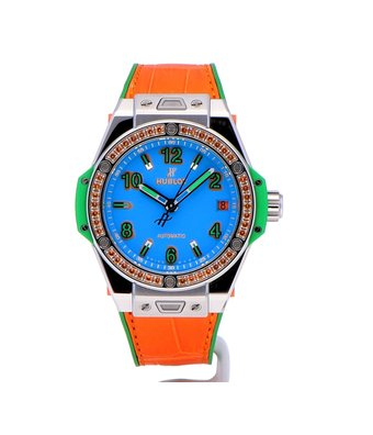 Hublot Horloge Big Bang 39mm One Click Pop Art Steel Orange 465.SO.5179.LR.06POP16