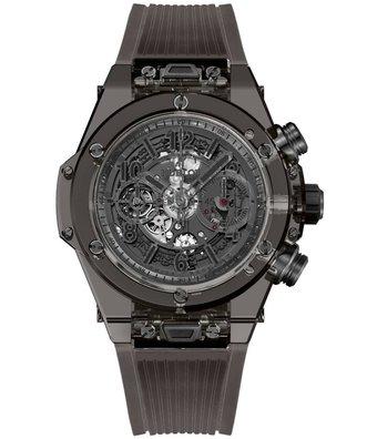 Hublot Horloge Big Bang Unico 45mm All Black Sapphire Chronograph 411.JB.4901.RT