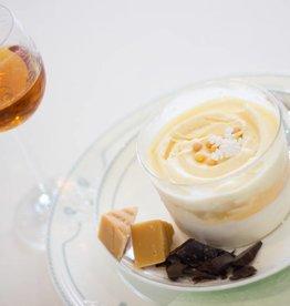framboos-fior di latte dessertglaasje