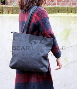 Bear Design Shopper Dark Nature 'Libelle' Zwart HD35010