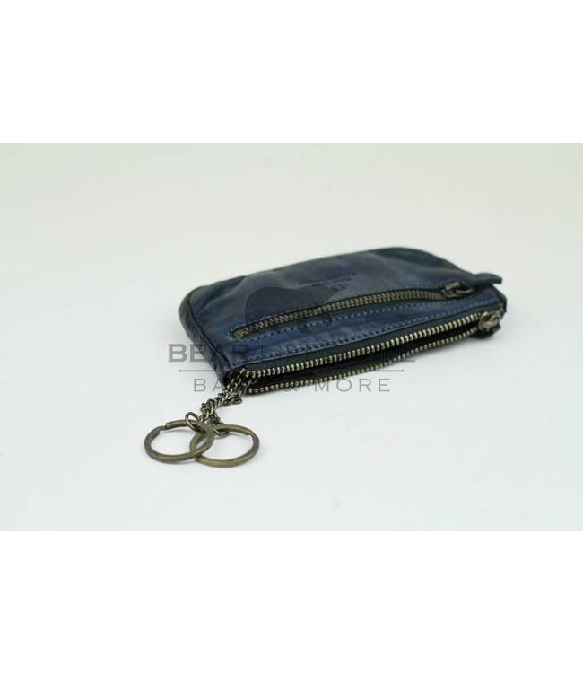 Bear Design Sleutel/Losgeld Portemonnee CL7616 XL - Blauw