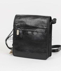 Bear Design Schoudertasje met flap 'Aafke' Zwart RO6266