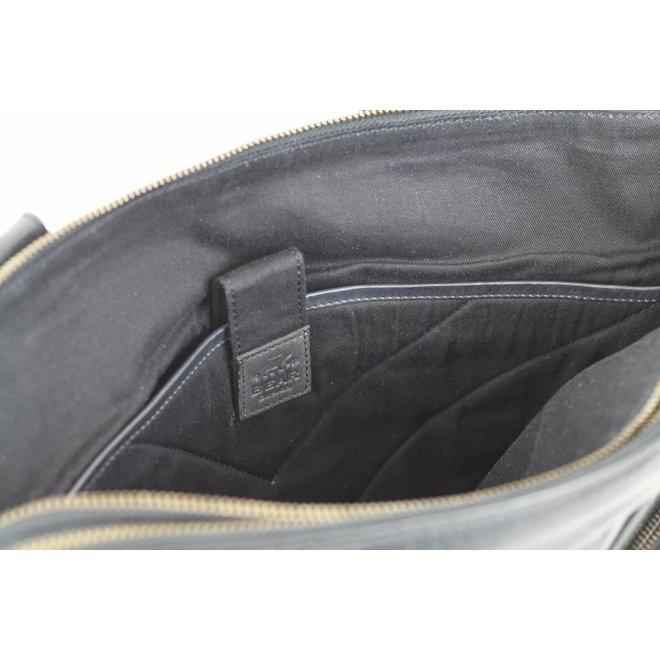Handtas 'Lia' dubbele rits - CL35220 Zwart
