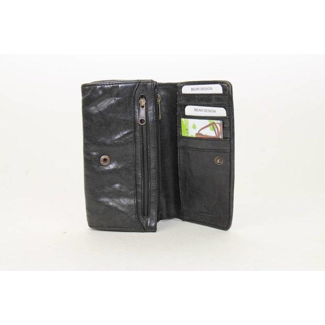 Overslag portemonnee Gevlochten - Zwart CL14614