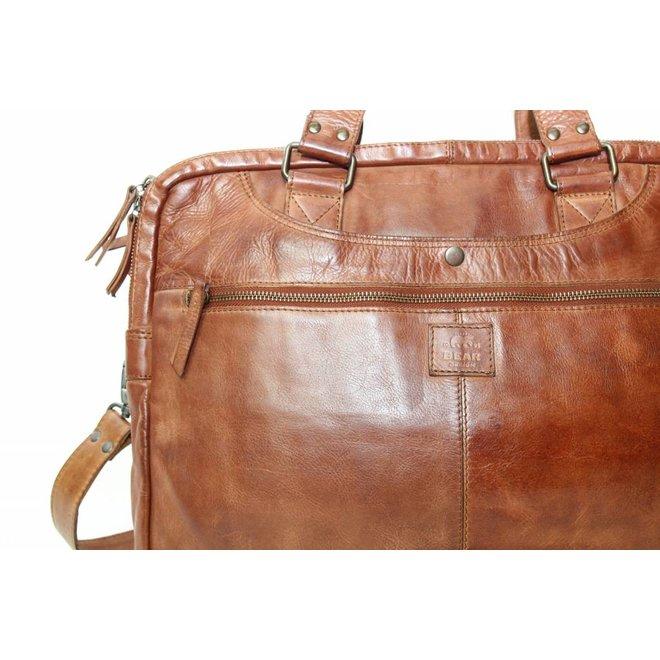 CL32843 Cognac Werk-/Laptoptas 'Leandro'