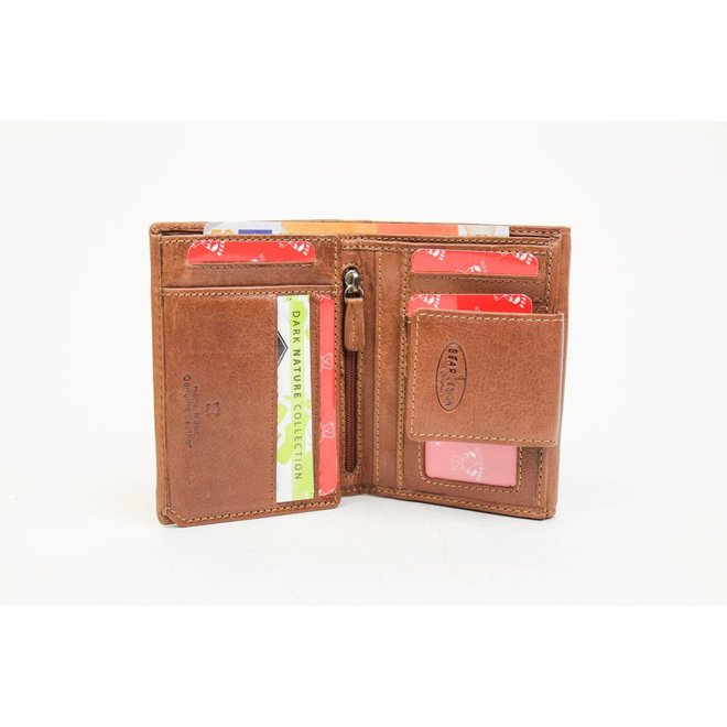 Portemonnee 'Jill' - Cognac RO8116