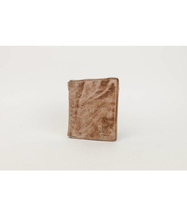 Bear Design Dunne billfold hoog - CL14985 Hazelnut