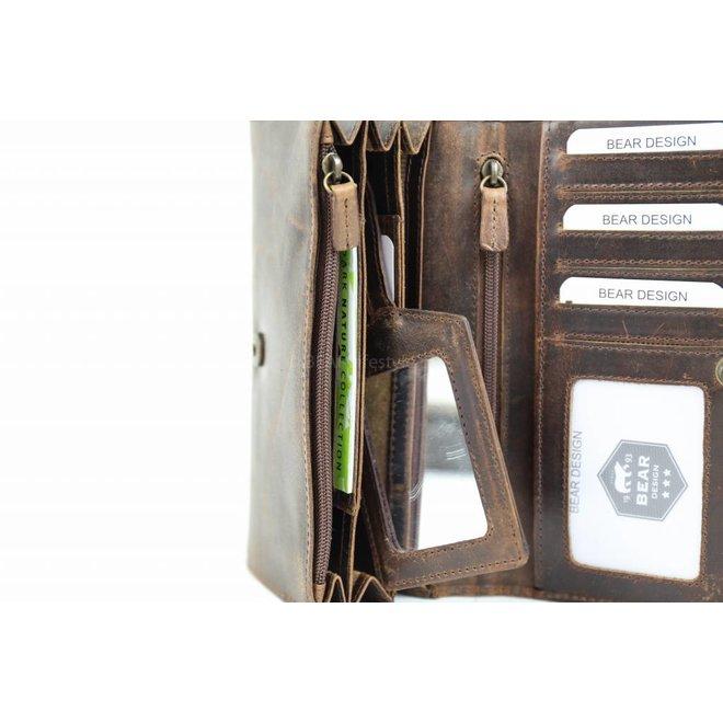 Dames Portemonnee - Bruin Vintage VG 13549