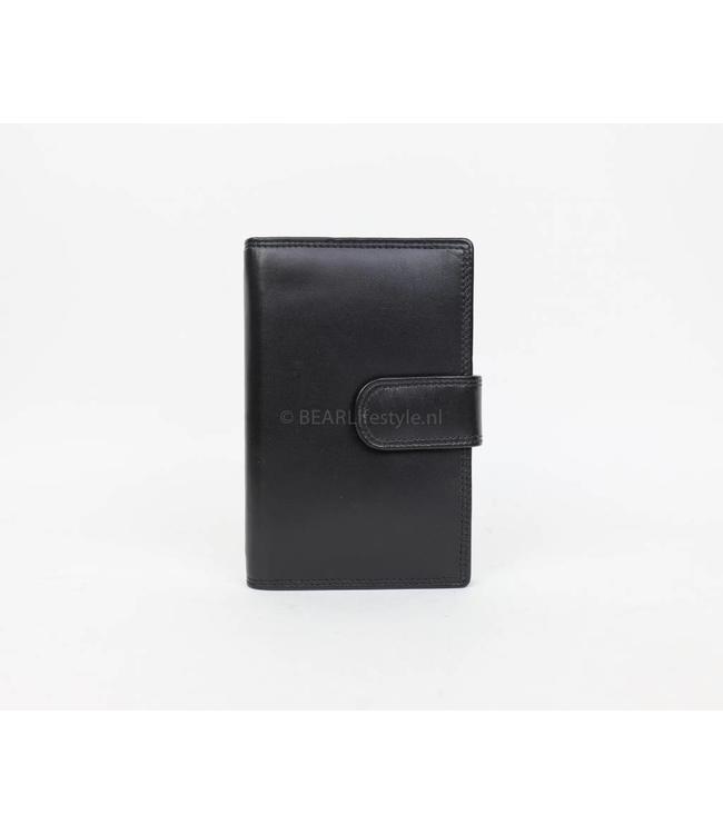 Bear Design Agenda omslag leer klein - Zwart 8337