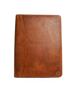 Bear Design Schreibmappe A4 - CL7793 Cognac