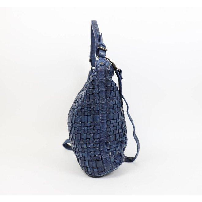 Gevlochten Schoudertas 'Tess' Blauw CL32444