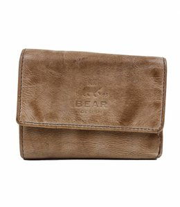Bear Design Klein Lederwaren/Portemonnee - Hazelnut CL14618