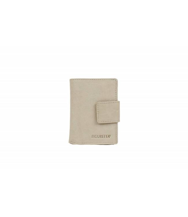 Bear Design Figuretta Ant-Skim Portemonnee/Pashouder Wit/grijs