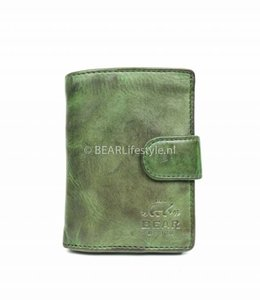 Bear Design - Figuretta Antiskim wallet groen - RFID