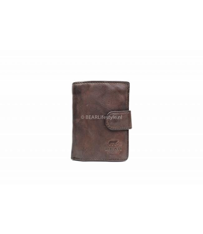 Bear Design - Figuretta Portemonnaie Braun - RFID Antiskim