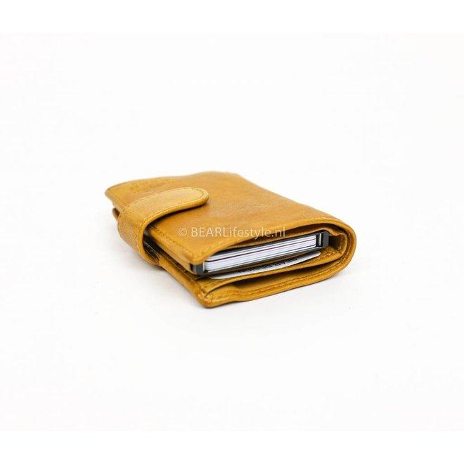 Bear Design - Figuretta Antiskim wallet geel - RFID
