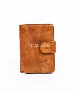 Bear Design - Figuretta Portemonnaie Cognac - RFID Antiskim