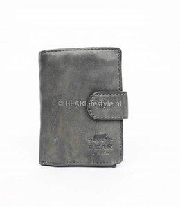 Bear Design - Figuretta Portemonnaie Grau - RFID Antiskim