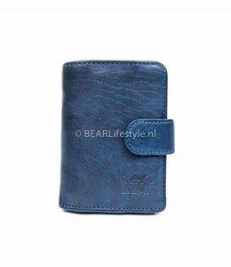 Bear Design - Figuretta Antiskim wallet blauw - RFID
