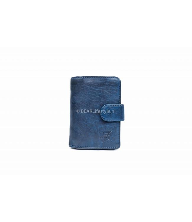 Bear Design - Figuretta Portemonnaie Blau - RFID Antiskim