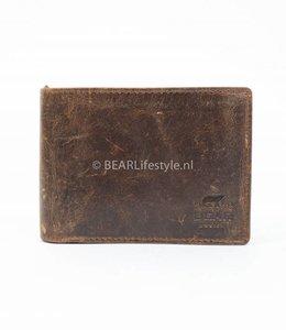 Bear Design Billfold Laag - Vintage Bruin VG 7254