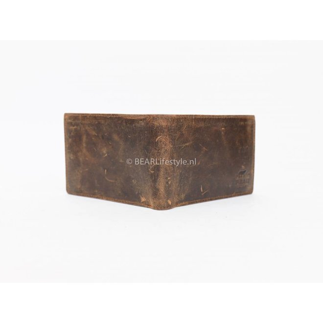 Heren Billfold 'Jan' - Vintage Bruin VG 7254