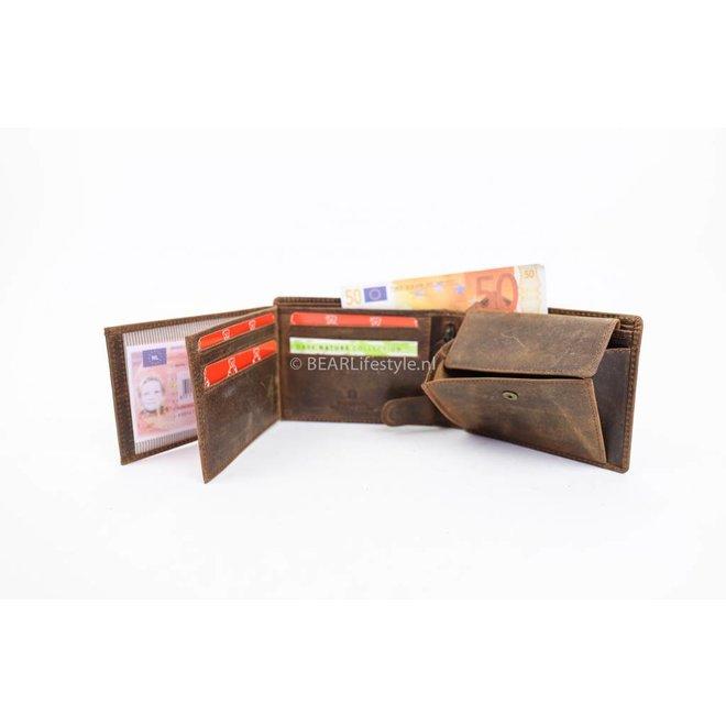 Billfold Laag - Vintage Bruin VG 7254