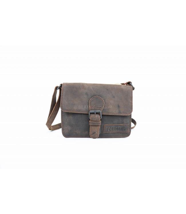 Bear Design Klein schoudertasje - SM30825 Choco