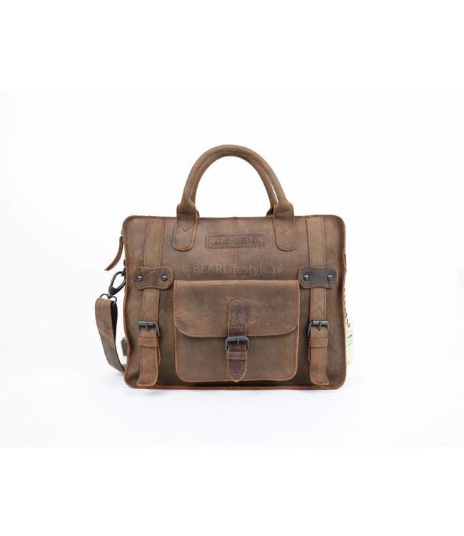 Bear Design Hand-/schoudertas SM30829 - Bruin
