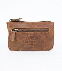 Bear Design Sleutel/Losgeld Portemonnee - VG7616 Cognac