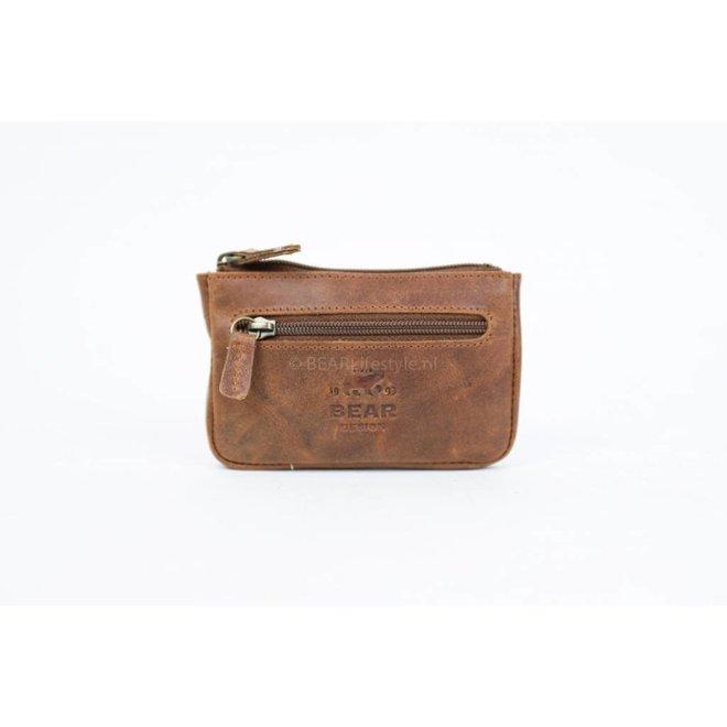 Sleutel/Losgeld Portemonnee - VG7616 Cognac